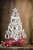 Christmas tree, Noel wish, spruce of the letters. Royalty Free Stock Photography
