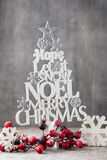 Christmas tree, Noel wish, spruce of the letters. Stock Photo
