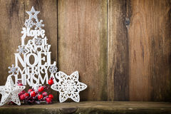 Christmas tree, Noel wish, spruce of the letters. Stock Photos