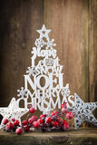 Christmas tree, Noel wish, spruce of the letters. Stock Photography