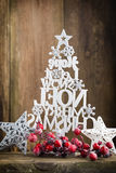 Christmas tree, Noel wish, spruce of the letters Stock Image