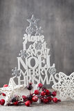 Christmas tree, Noel wish, spruce of the letters Stock Photography