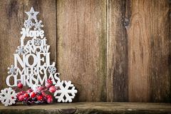 Christmas tree, Noel wish, spruce of the letters. Royalty Free Stock Images