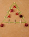 Christmas tree on noticeboard Royalty Free Stock Photo