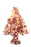 Christmas tree from nuts Royalty Free Stock Photography