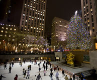 Christmas tree in NY  Royalty Free Stock Photo