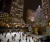 Christmas tree in NY. New York city , Christmas tree at Rockefeller plaza , 2008 royalty free stock photo
