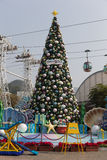 Christmas Tree in Ocean Park Hong Kong Royalty Free Stock Photos