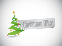 Christmas tree offer sign illustration design Stock Photography