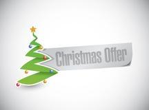 Christmas tree offer sign illustration design Stock Photography