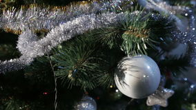 Christmas tree in office stock video footage