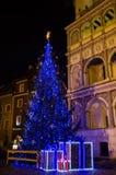 Christmas tree. Old Market Square in Poznań, Poland Royalty Free Stock Photo