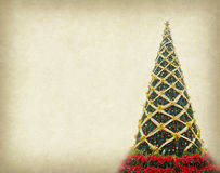 Christmas tree on old paper Royalty Free Stock Images