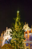 Christmas tree in the old town. Stock Photography