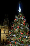 Christmas tree on old town square in prague Royalty Free Stock Images