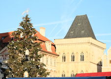 Christmas tree on Old Town Square in Prague Royalty Free Stock Photos