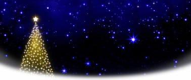 Free Christmas Tree On Stars Sky Background. Royalty Free Stock Photography - 47247857