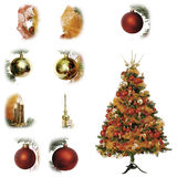 Christmas tree orange Royalty Free Stock Photos