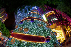 Christmas tree in orchard road Stock Photography