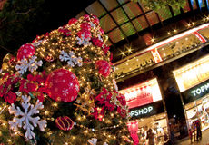 Christmas tree at orchard road Stock Images