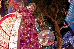 Christmas tree at orchard road singapore Stock Photos