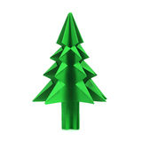 Christmas tree origami Stock Images