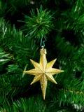 Christmas Tree Ornament. A Christmas ornament hanging on a Christmas tree Stock Photo