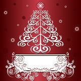 Christmas tree with ornament. Stock Photography