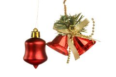 Christmas Tree Ornament, ball, decorations. Isolated white background. Stock Photography