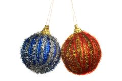 Christmas Tree Ornament, ball, decorations. Isolated white background. Royalty Free Stock Images