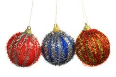 Christmas Tree Ornament, ball, decorations. Isolated white background. Royalty Free Stock Photography