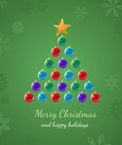 Christmas Tree Ornament Card Stock Images