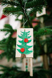 Christmas tree ornament in childish style Royalty Free Stock Photography