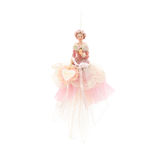 Christmas tree ornament. Doll isolated on a white Stock Photography