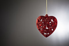 Christmas tree ornament. In from of a heart royalty free stock image