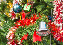 Christmas tree and ornament Stock Photography