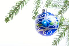Christmas Tree Ornament isolated. On white background Stock Photos