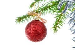 Christmas Tree Ornament isolated on white Royalty Free Stock Image