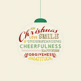 Christmas tree ornament with magic words Royalty Free Stock Images