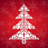 Christmas tree in ornament style vector illustration
