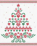 Christmas tree ornament vector seamless texture Royalty Free Stock Image