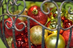 Christmas tree ornaments Stock Photos
