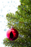 Christmas tree with ornaments Stock Photography