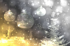 Christmas tree and ornaments Stock Image