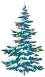 Christmas tree with ornaments Stock Images