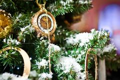 Christmas tree with ornaments Royalty Free Stock Image