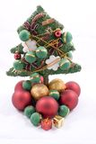 Christmas tree and ornaments Stock Photos