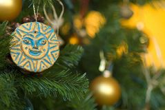 Christmas tree ornaments Stock Images