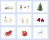 Christmas Tree Ornaments. Assortment of Christmas Tree Ornaments royalty free stock images