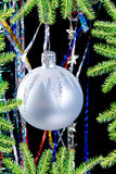 Christmas tree ornaments royalty free stock images